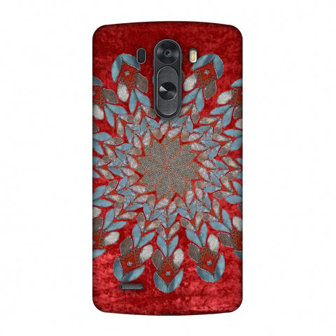 Gotapatti Florals - Rust Red Slim Hard Shell Case For LG G4