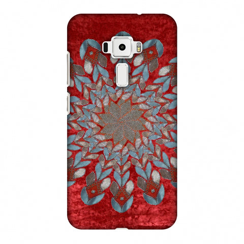 Gotapatti Florals - Rust Red Slim Hard Shell Case For Asus Zenfone 3 ZE520KL
