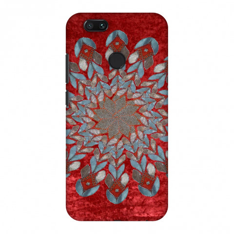 Gotapatti Florals - Rust Red Slim Hard Shell Case For Xiaomi MI A1-5X