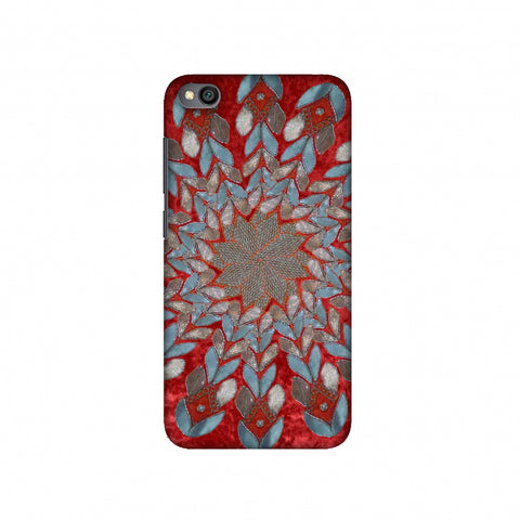 Gotapatti Florals - Rust Red Slim Hard Shell Case For Redmi Go