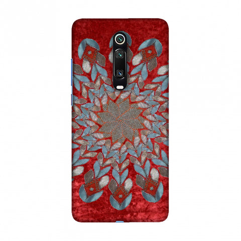 Gotapatti Florals - Rust Red Slim Hard Shell Case For Redmi K20/K20 Pro