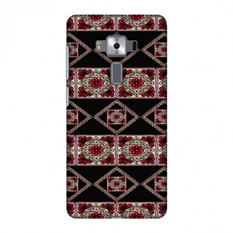 Kutch Embroidery - Deco Patterns - Red And Black Slim Hard Shell Case For Asus Zenfone 3 Deluxe ZS570KL