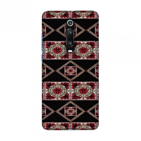 Kutch Embroidery - Deco Patterns - Red And Black Slim Hard Shell Case For Redmi K20/K20 Pro