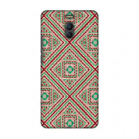 Geometric Kantha And Gujarati Mirrorwork - Beige And Red Slim Hard Shell Case For Meizu Note 6