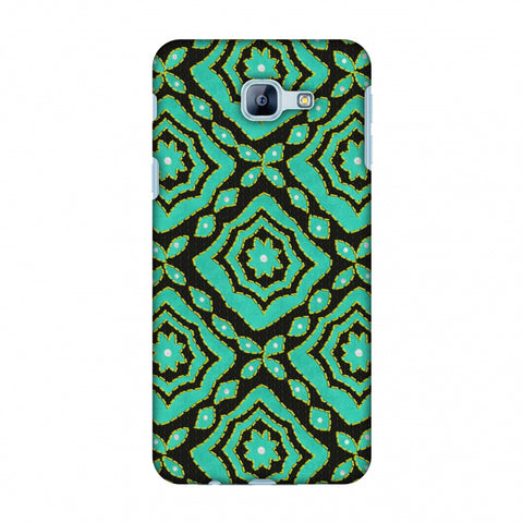 Kantha And Patchwork - Cyan Slim Hard Shell Case For Samsung Galaxy A8 2016