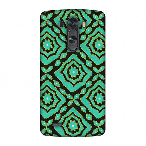 Kantha And Patchwork - Cyan Slim Hard Shell Case For LG G4