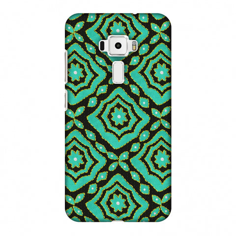 Kantha And Patchwork - Cyan Slim Hard Shell Case For Asus Zenfone 3 ZE520KL