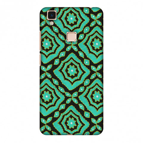 Kantha And Patchwork - Cyan Slim Hard Shell Case For Vivo V3 Max