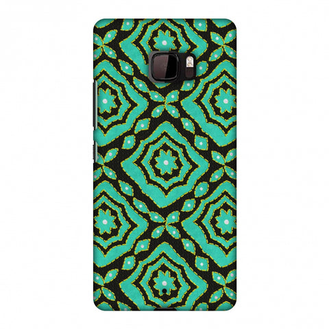 Kantha And Patchwork - Cyan Slim Hard Shell Case For HTC U Ultra