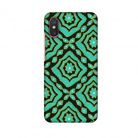 Kantha And Patchwork - Cyan Slim Hard Shell Case For Xiaomi Mi 8 Pro