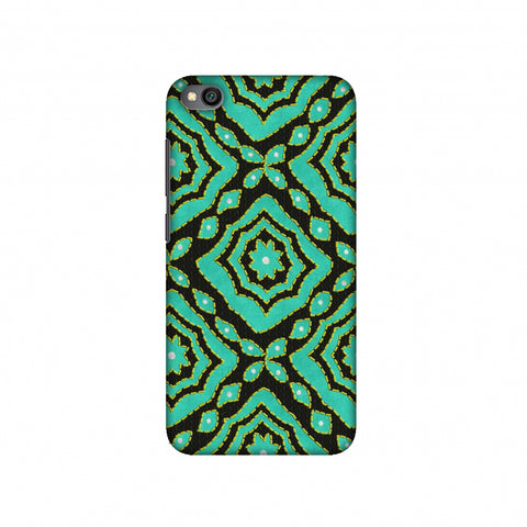 Kantha And Patchwork - Cyan Slim Hard Shell Case For Redmi Go