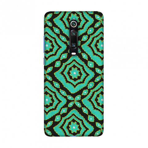 Kantha And Patchwork - Cyan Slim Hard Shell Case For Redmi K20/K20 Pro