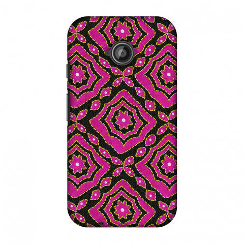 Kantha And Patchwork - Pink Slim Hard Shell Case For Motorola Moto E 2nd Gen