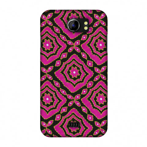 Kantha And Patchwork - Pink Slim Hard Shell Case For Micromax Canvas 2 A110