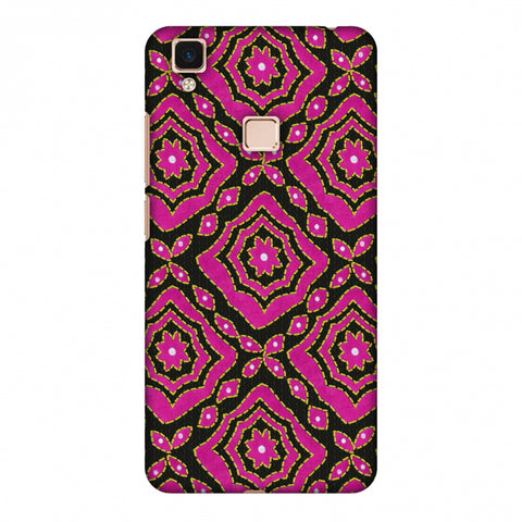 Kantha And Patchwork - Pink Slim Hard Shell Case For Vivo V3 Max