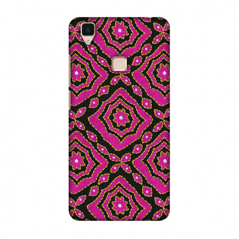 Kantha And Patchwork - Pink Slim Hard Shell Case For Vivo V3