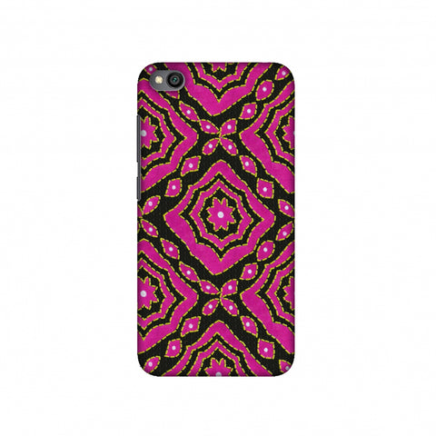 Kantha And Patchwork - Pink Slim Hard Shell Case For Redmi Go