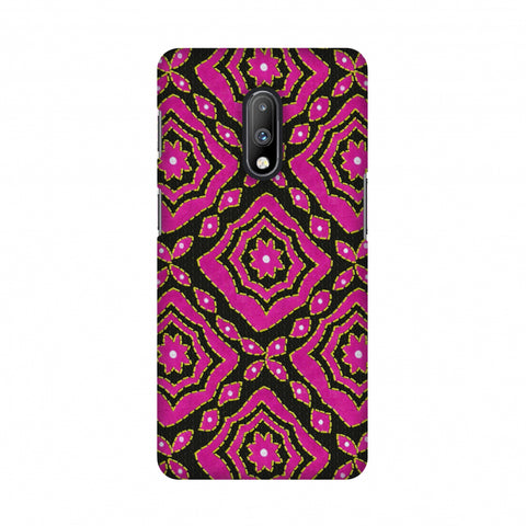 Kantha And Patchwork - Pink Slim Hard Shell Case For OnePlus 7