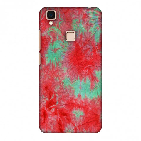 Marble Dyeing - Pink And Aquamarine Slim Hard Shell Case For Vivo V3 Max