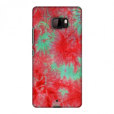 Marble Dyeing - Pink And Aquamarine Slim Hard Shell Case For HTC U Ultra