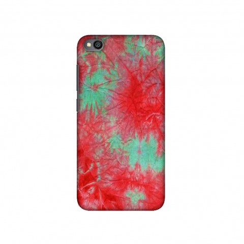 Marble Dyeing - Pink And Aquamarine Slim Hard Shell Case For Redmi Go