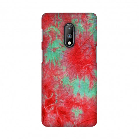 Marble Dyeing - Pink And Aquamarine Slim Hard Shell Case For OnePlus 7
