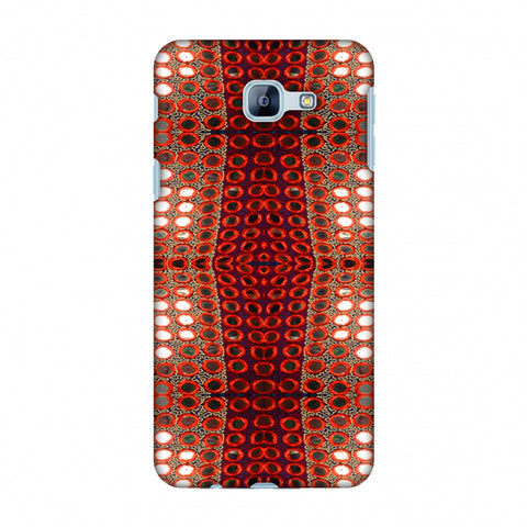 Gujarati Mirrorwork Allover - Green And Red Slim Hard Shell Case For Samsung Galaxy A8 2016