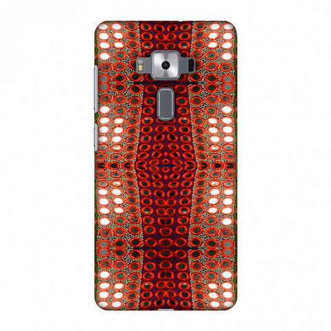 Gujarati Mirrorwork Allover - Green And Red Slim Hard Shell Case For Asus Zenfone 3 Deluxe ZS570KL