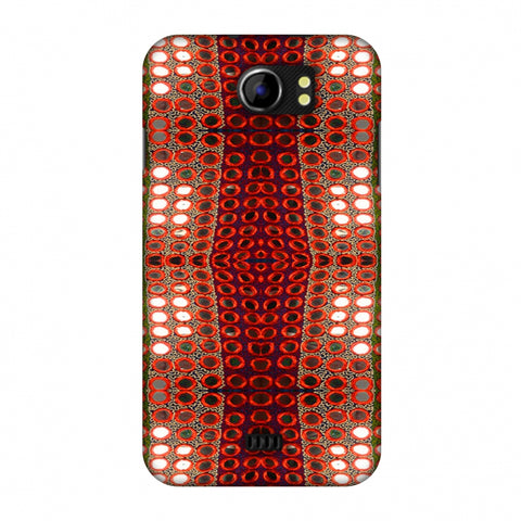 Gujarati Mirrorwork Allover - Green And Red Slim Hard Shell Case For Micromax Canvas 2 A110