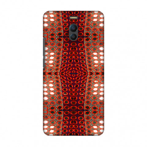 Gujarati Mirrorwork Allover - Green And Red Slim Hard Shell Case For Meizu Note 6