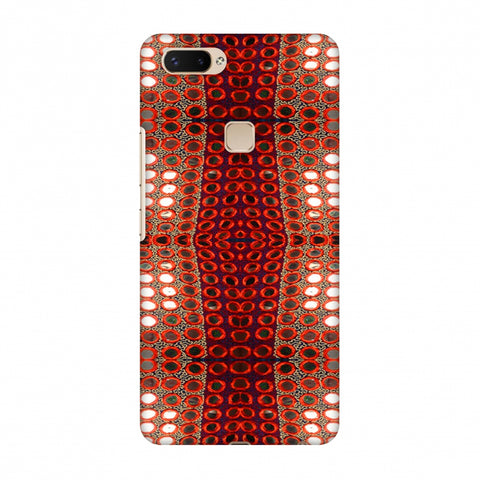 Gujarati Mirrorwork Allover - Green And Red Slim Hard Shell Case For Vivo X20 Plus