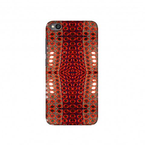 Gujarati Mirrorwork Allover - Green And Red Slim Hard Shell Case For Redmi Go