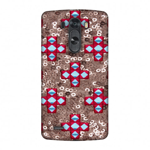 Gujarati Mirrorwork And Sequins - Copper And Red Slim Hard Shell Case For LG G4
