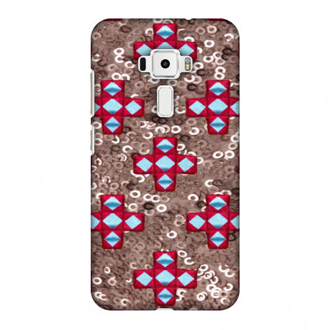 Gujarati Mirrorwork And Sequins - Copper And Red Slim Hard Shell Case For Asus Zenfone 3 ZE520KL