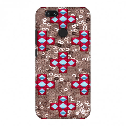 Gujarati Mirrorwork And Sequins - Copper And Red Slim Hard Shell Case For Xiaomi MI A1-5X