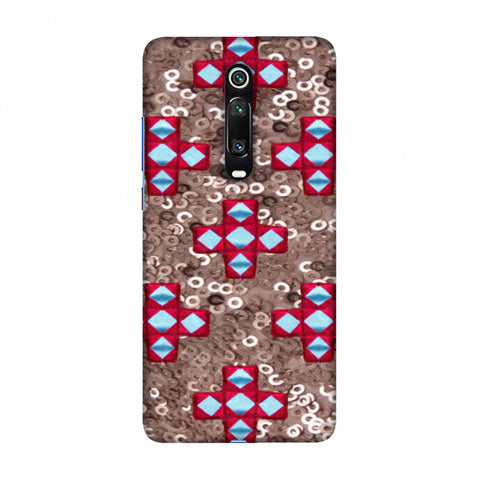 Gujarati Mirrorwork And Sequins - Copper And Red Slim Hard Shell Case For Redmi K20/K20 Pro