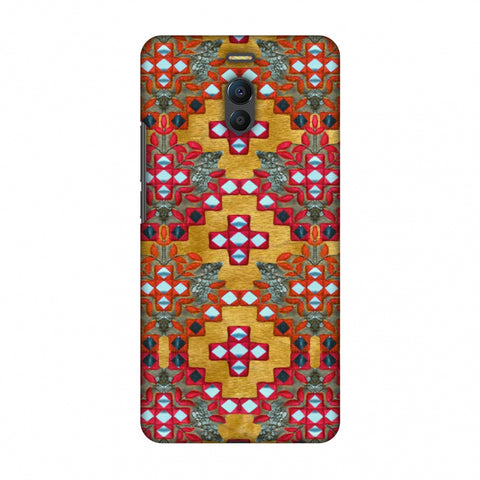 Gujarati Mirrorwork Geometric Florals - Mustard Slim Hard Shell Case For Meizu Note 6