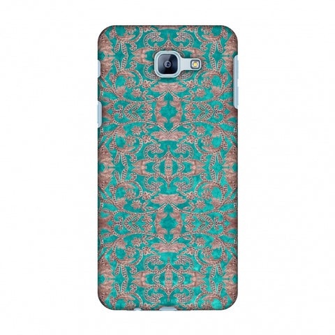 Patchwork And Sequins - Teal Slim Hard Shell Case For Samsung Galaxy A8 2016