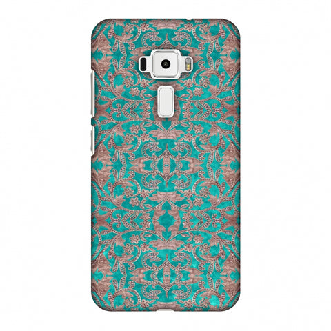 Patchwork And Sequins - Teal Slim Hard Shell Case For Asus Zenfone 3 ZE520KL