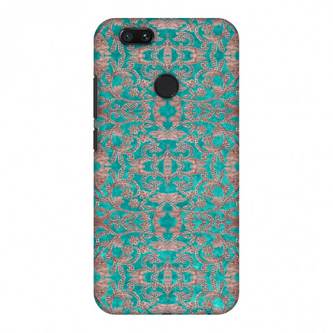 Patchwork And Sequins - Teal Slim Hard Shell Case For Xiaomi MI A1-5X
