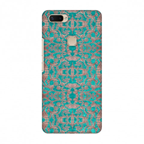 Patchwork And Sequins - Teal Slim Hard Shell Case For Vivo X20 Plus