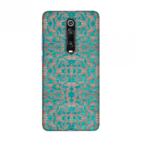Patchwork And Sequins - Teal Slim Hard Shell Case For Redmi K20/K20 Pro