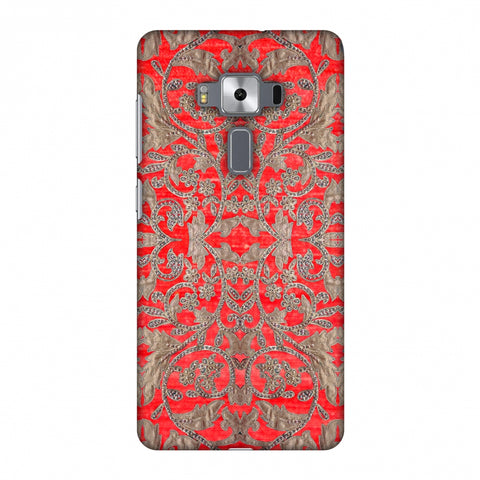 Patchwork And Sequins - Red Slim Hard Shell Case For Asus Zenfone 3 Deluxe ZS570KL