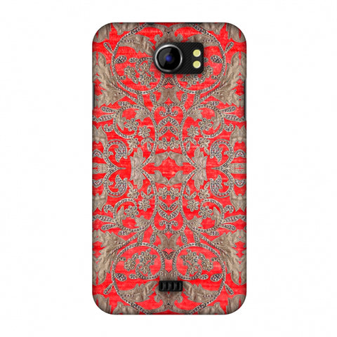 Patchwork And Sequins - Red Slim Hard Shell Case For Micromax Canvas 2 A110