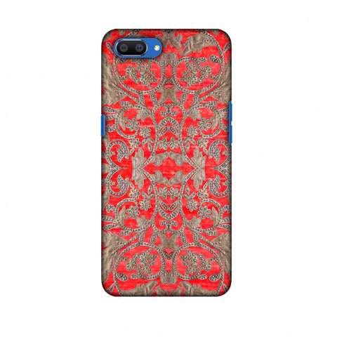 Patchwork And Sequins - Red Slim Hard Shell Case For Oppo Realme C1