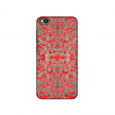 Patchwork And Sequins - Red Slim Hard Shell Case For Redmi Go