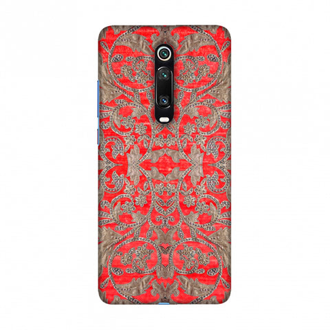 Patchwork And Sequins - Red Slim Hard Shell Case For Redmi K20/K20 Pro