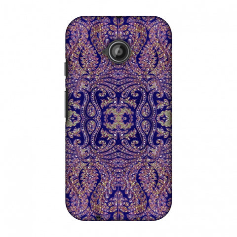Zardozi Geometric Motifs - Midnight Blue Slim Hard Shell Case For Motorola Moto E 2nd Gen