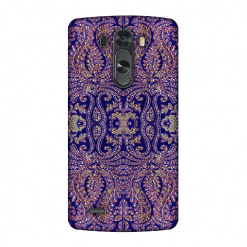 Zardozi Geometric Motifs - Midnight Blue Slim Hard Shell Case For LG G4