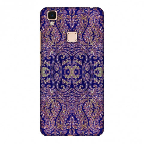 Zardozi Geometric Motifs - Midnight Blue Slim Hard Shell Case For Vivo V3 Max
